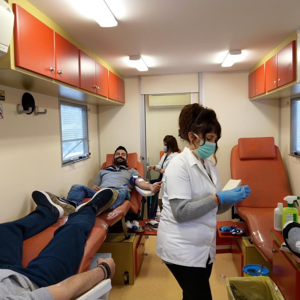 Κινητή μονάδα εθελοντικής αιμοδοσίας στην Union Coach Services